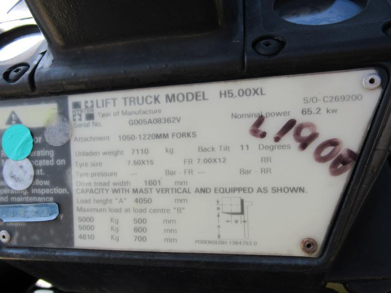 1999 HYSTER H500XL - 10