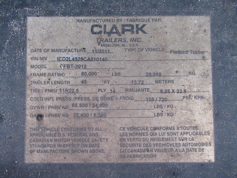 2012 CLARK CFBT-2012 - 12