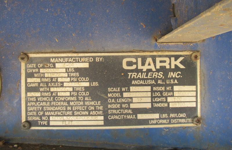 2004 CLARK CFBT-2004 - 8